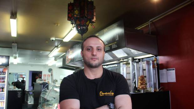 Ismail Ibrahim owns Paasha Turkish Kitchen in New Lynn, he says revenue has gone down by 40 per cent since the floods.