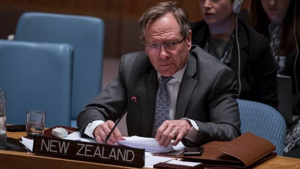 New Zealand's permanent representative to the United Nations, Gerard van Bohemen, lives a New York apartment which cost ...