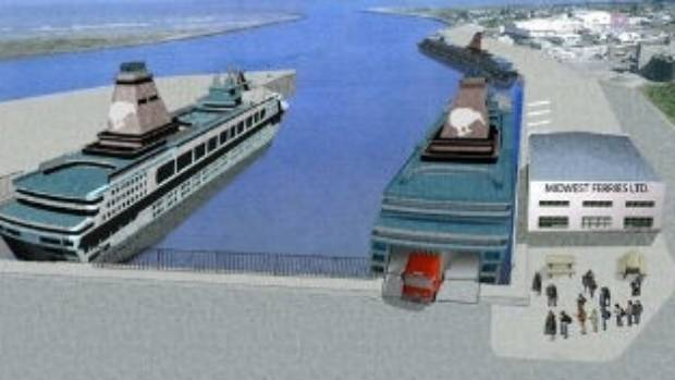 An artist impression of the Whanganui terminal, which will be based at Castlecliff Beach,