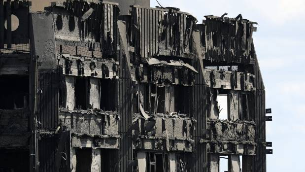 The fire crews are yet to reach the very top floors of the tower.