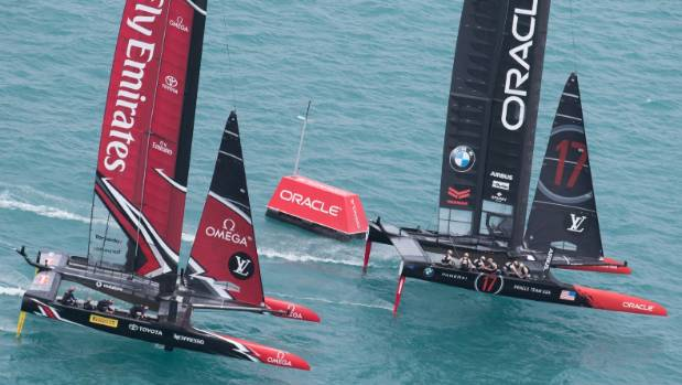 Modern heavyweights Emirates Team New Zealand and Oracle Team USA lock horns for the America's Cup again.