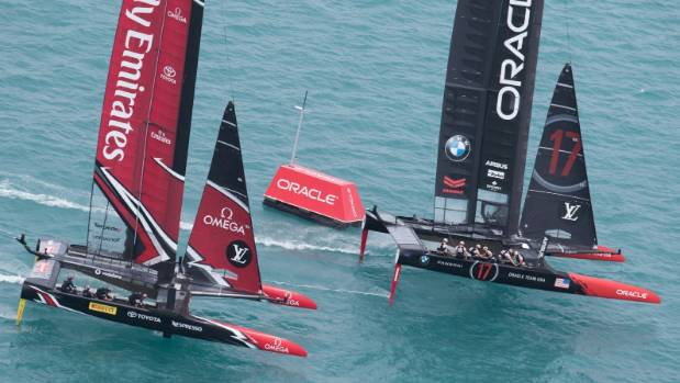 Burling, Team New Zealand reach match point in America's Cup