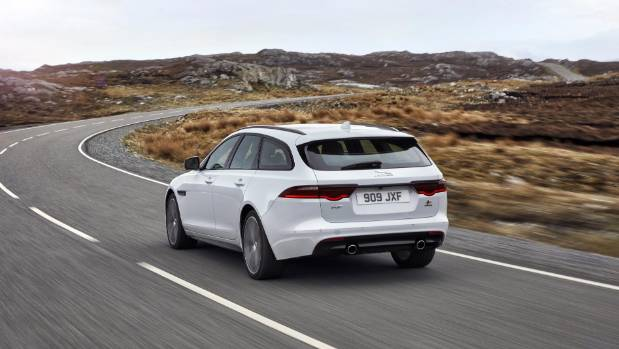 Jaguar unveiled its luxurious premium station wagon, the XF Sportbrake.