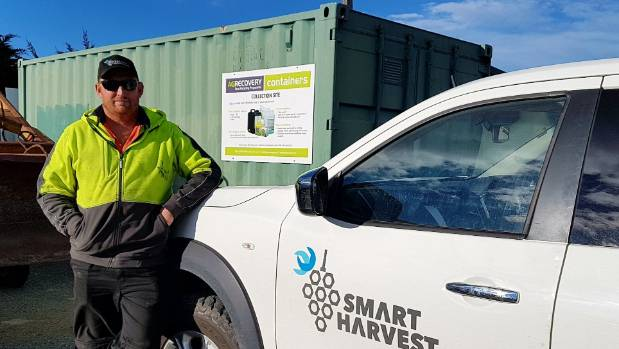 The chemical recycling container has been popular with Awatere residents says Smart Harvest operator Calvin Wilson.