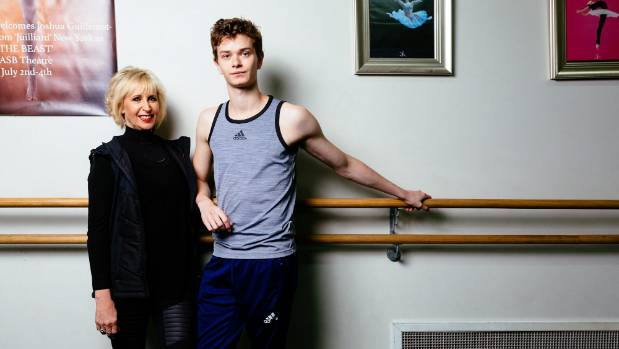 DANCE on Grove artistic director Jeannie Mark and ballet dancer Joshua Guillemot-Rodgerson in the studio getting ready ...