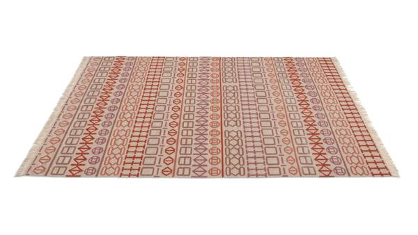 Spanish design firm Odosdesign use African-inspired graphic motifs for this kilim-style 100% wool rug. Naidu Rug ...