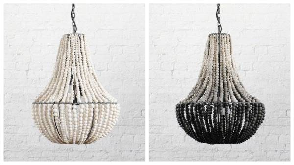 These Klaylife chandeliers are made from clay beads, hand-rolled by local women on a small farm in Kwazulu-Natal, South ...