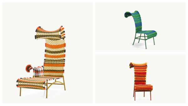 The 'Shadowy' chair and chaise longue by Dutch designer Tord Boontje was part of Moroso's initial 2009 m'Afrique ...