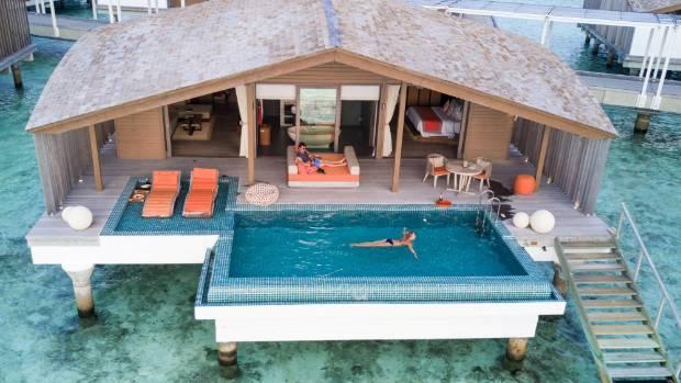 The overwater Villas at Club Med Finolhu.