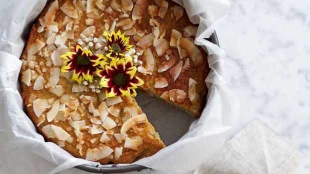 Kelly Gibney's banana coconut cake.