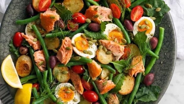 Kelly Gibney's Hearty Dinner Salad works for brunchtime, too.