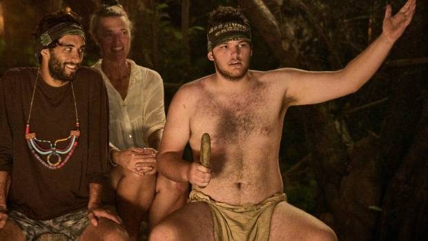 Survivor contestant Jak Thomas wears only a loincloth as he is voted off from the tribe.