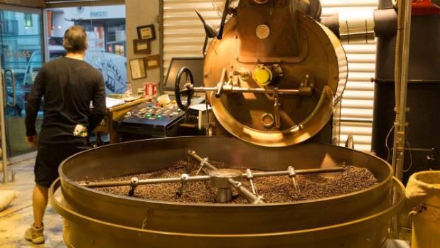 Inside Havana Coffee Works headquarters on Tory St.