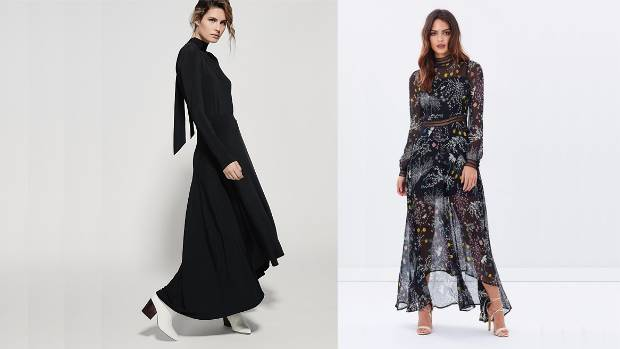 If florals aren't your thing, Witchery's Madison dress, $280, is a chic all-black take. Dark Pink maxi dress, AU$112 on ...