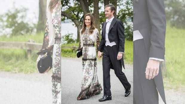 Pippa Middleton and husband James Matthews attending a friend's wedding in Stockholm, Sweden.