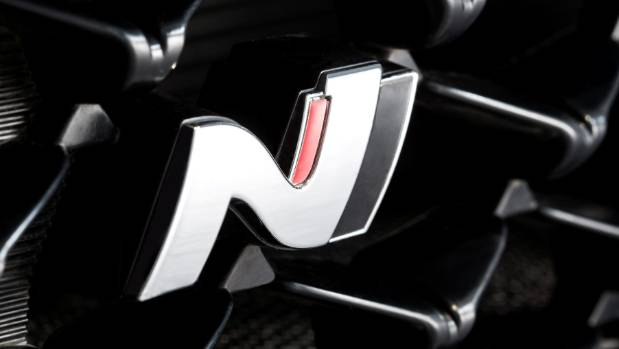 "Hyundai claims stylised ""N"" badge was inspired by the shape of a section of the Nurburgring circuit."