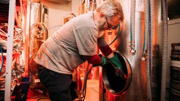 Black Dog brewer Simon Edward.