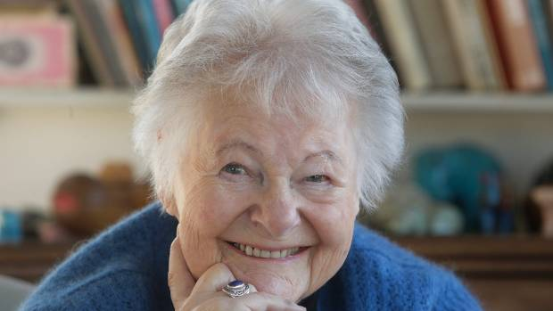 Dame Kate Harcourt at her home in Wellington (file photo).