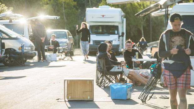 Freedom Campers contribute to the New Zealand economy while parked up at Trafalgar Centre car-park in Nelson.