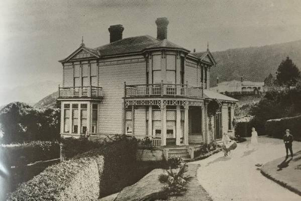The Tranby villa in 1923, with new owners the Hurley family.