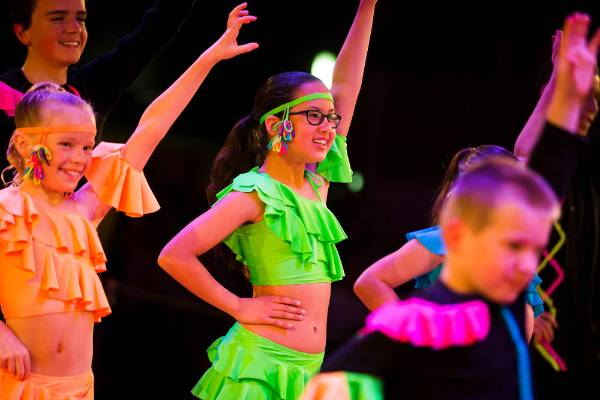 Jessica Gore, 11, dances in The Kids of Tempo Dance Studio opening number.