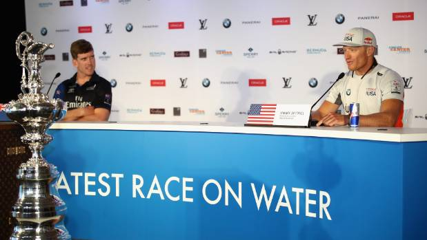 Peter Burling has looked increasingly comfortable fronting the media, an area where Jimmy Spithill excels.