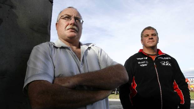 Alan Hampton, left, and Duncan Powell were on the boat Hard Out 2 when it sunk off Whanganui in 2008. Alan's son ...