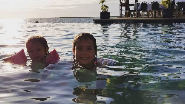 Cory Bellringer's family, including daughters Isla and Ellie (pictured) were struck down by a mystery illness while on ...