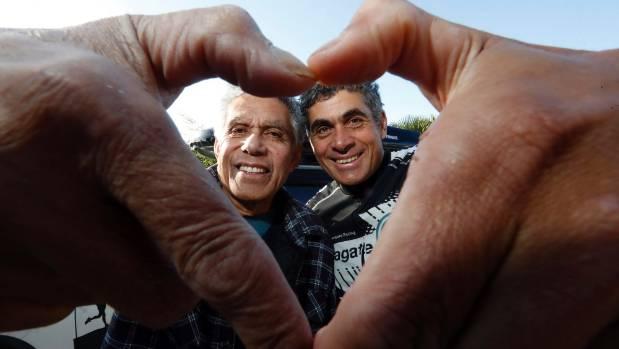 Filemoni Fa'avae, left and Nathan Fa'avae have both had heart problems.