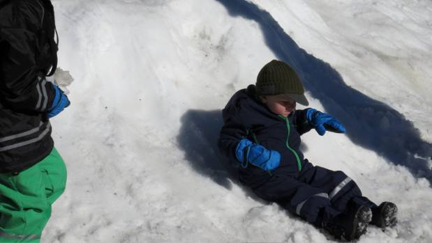 Generations of children have enjoyed playing in the snow at Whakapapa for free.