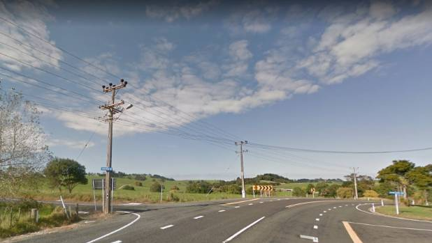 The incident happened near the SH16 intersection with Anderson Rd, Kaukapakapa.