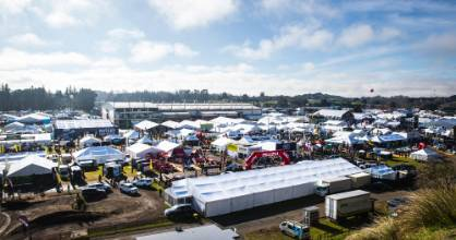 A sight that never fails to thrill Brad Markham. Overlooking the Fieldays agricultural expo at Mystery Creek.
