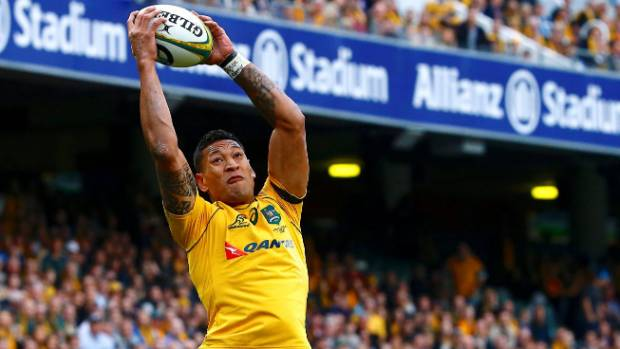 Two spectacular tries by Israel Folau wasn't enough to get Australia home.
