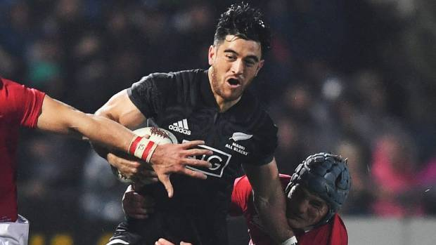 Hurricanes wing Nehe Milner-Skudder in action for NZ Maori against the Lions.