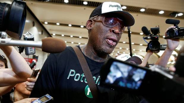 Dennis Rodman gifts Trump book to North Korean minister