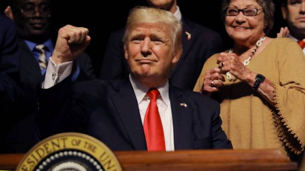 Trump again blasts 'distraction of the witch hunt'