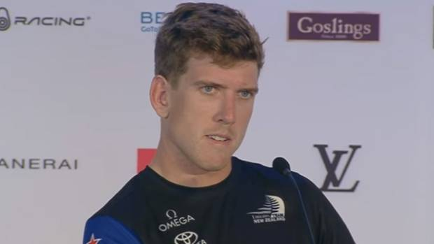 Team NZ helmsman Peter Burling.