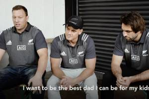 Wyatt Crockett, Israel Dagg and Sam Whitelock talk about what makes a Super Dad.