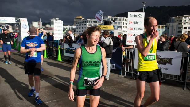 Women's marathon second place: Sally Gibbs.
