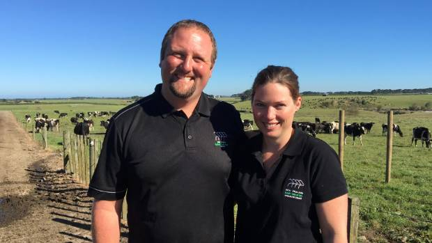 Sharemilkers Ben and Belinda Price are keen to share their stories through social media.
