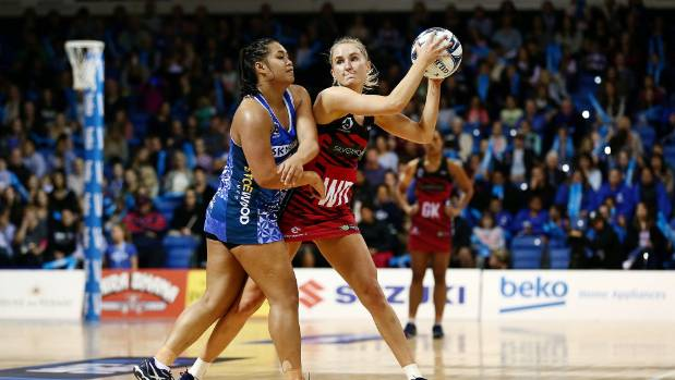 The Mystics' Brooke Watt of the Mystics clashed with Erikana Pedersen from the Tactix in their surprise loss.