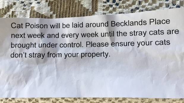 Each house on Becklands Pl in Inglewood received this anonymous, and threatening, note.