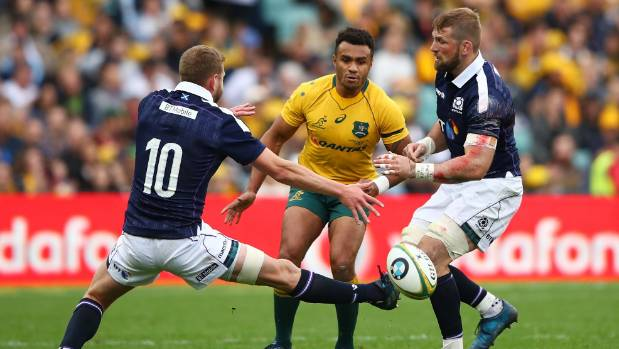 Australian halfback Will Genia, centre, has taken responsibility for his shocker against Scotland.