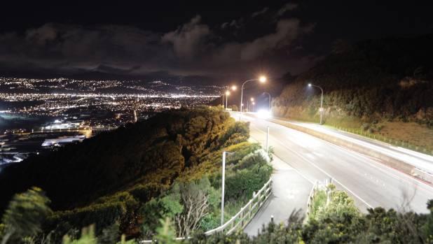 The summit of Wainui hill on Sunday night.