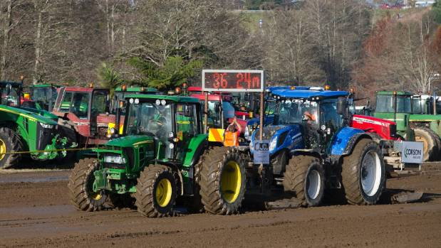 Tractor Pull is always a crowd favourite at Fieldays.