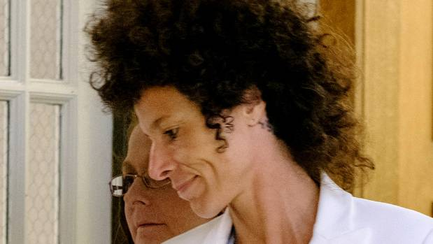 Bill Cosby accuser Andrea Constand leaves after the judge declared a mistrial.