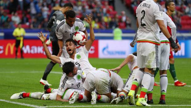 Mexico were jubilant after scoring a 91st-minute equaliser to claim a 2-2 draw with Portugal in their first game of the ...