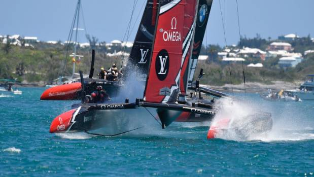Emirates Team New Zealand again had simply too much speed for Oracle Team USA on the second day of the America's Cup match.