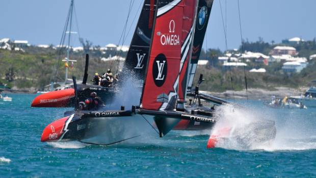 Sailing-New Zealand reach match point against US in America's Cup final