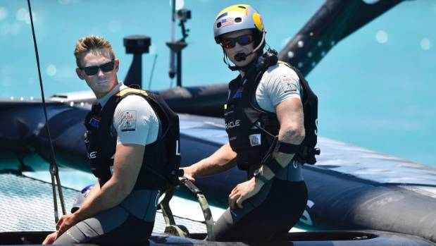 It's back to the drawing board for Jimmy Spithill (right) and Oracle.